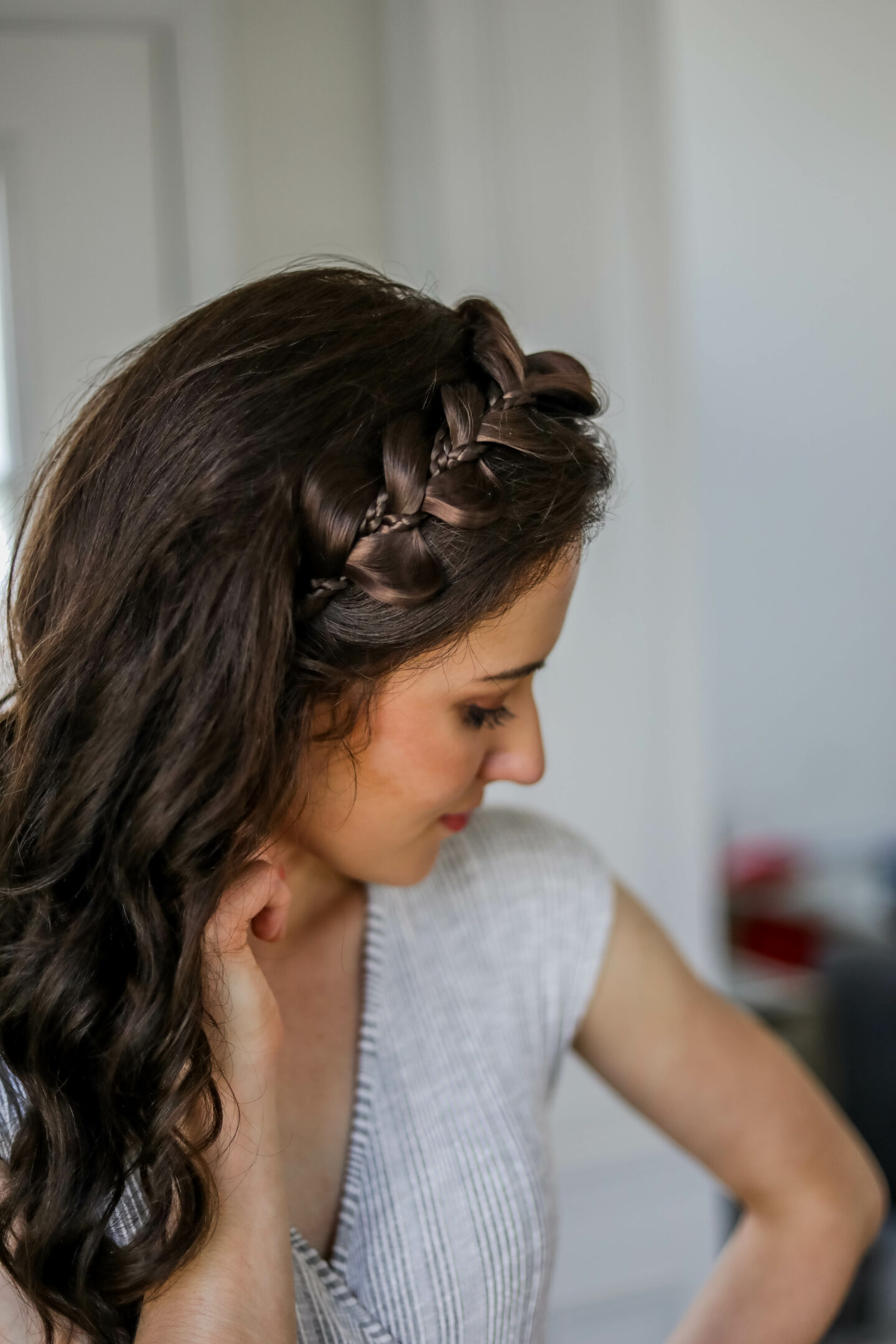 My 10 second EASY HAIR TRICK - an $18 fake braid headband!