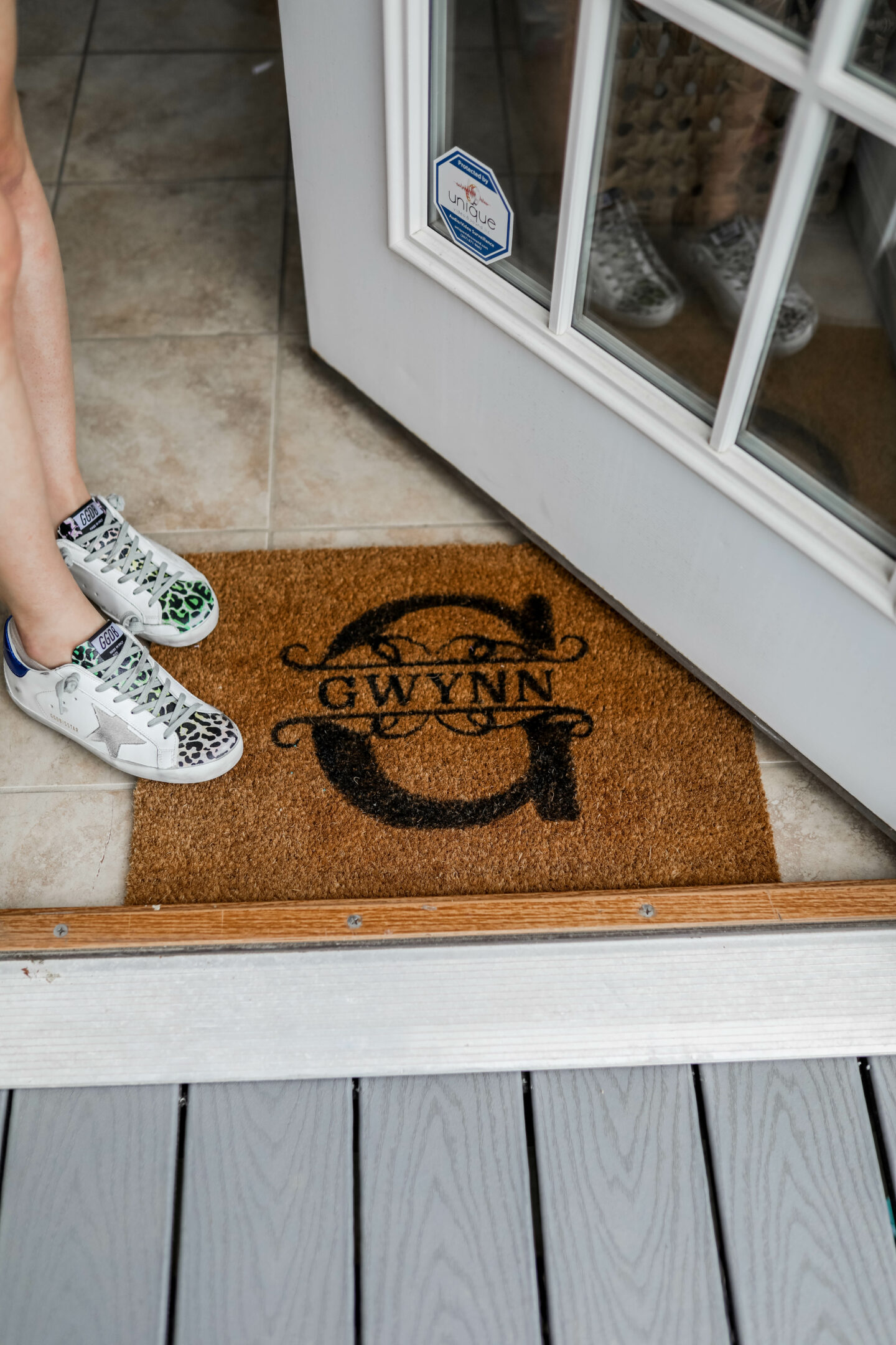 Monogrammed Doormat - on Coming Up Roses