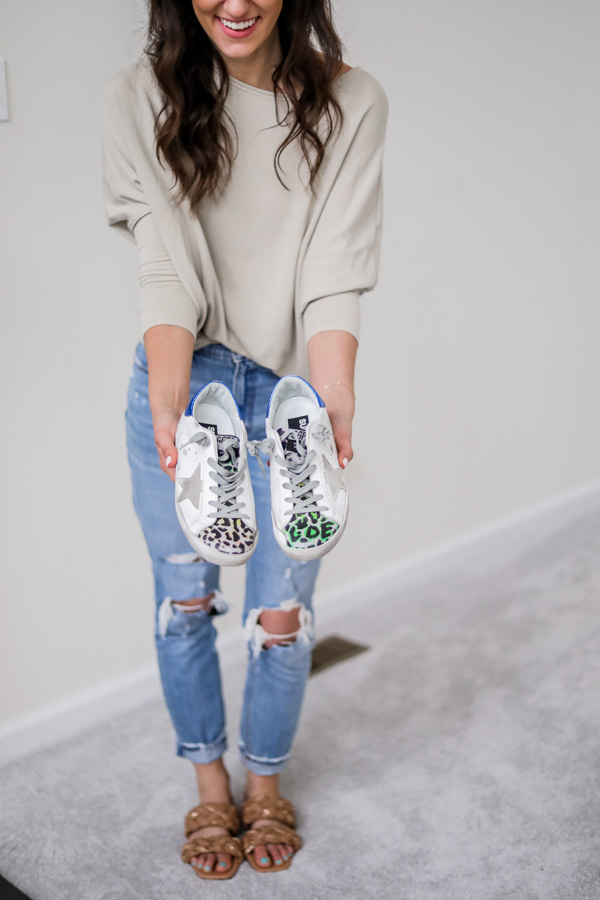 Leopard Print Golden Goose Sneakers - on Coming Up Roses