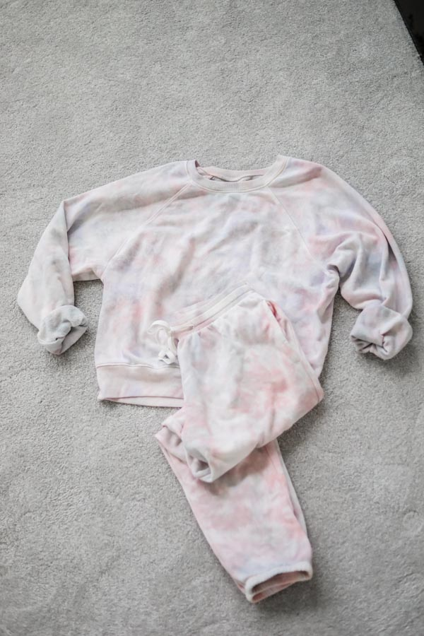 The Drop Amazon tie dye sweat set on Coming Up Roses