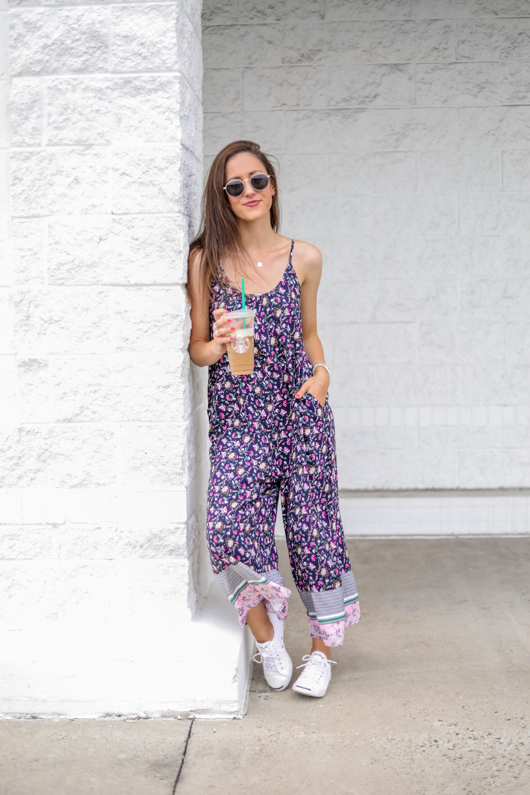 $17 AMAZON JUMPSUIT - Pretty floral prints and easy, breezy fit! - on Coming Up Roses