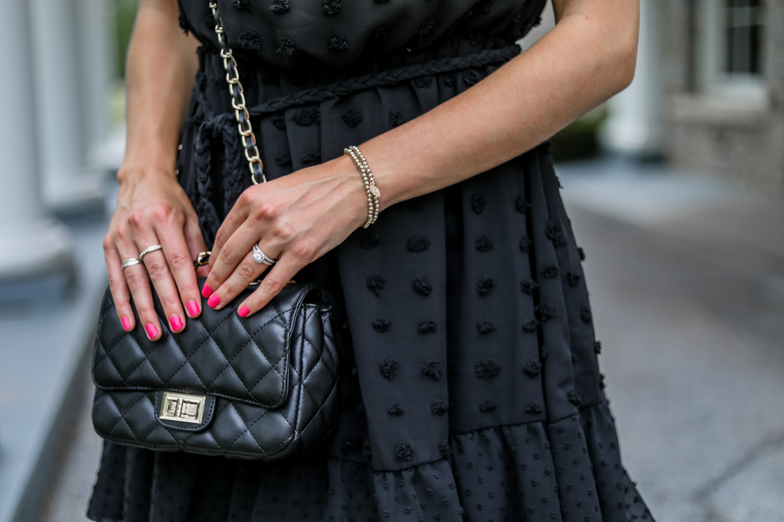 Chanel bag dupe on Coming Up Roses