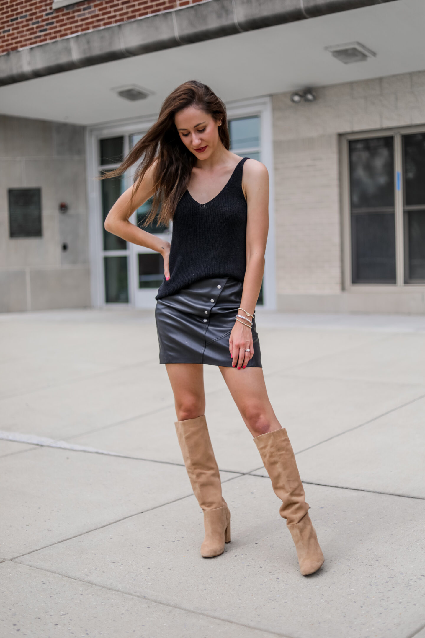 Transitional Fall Date Night Outfit - on Coming Up Roses