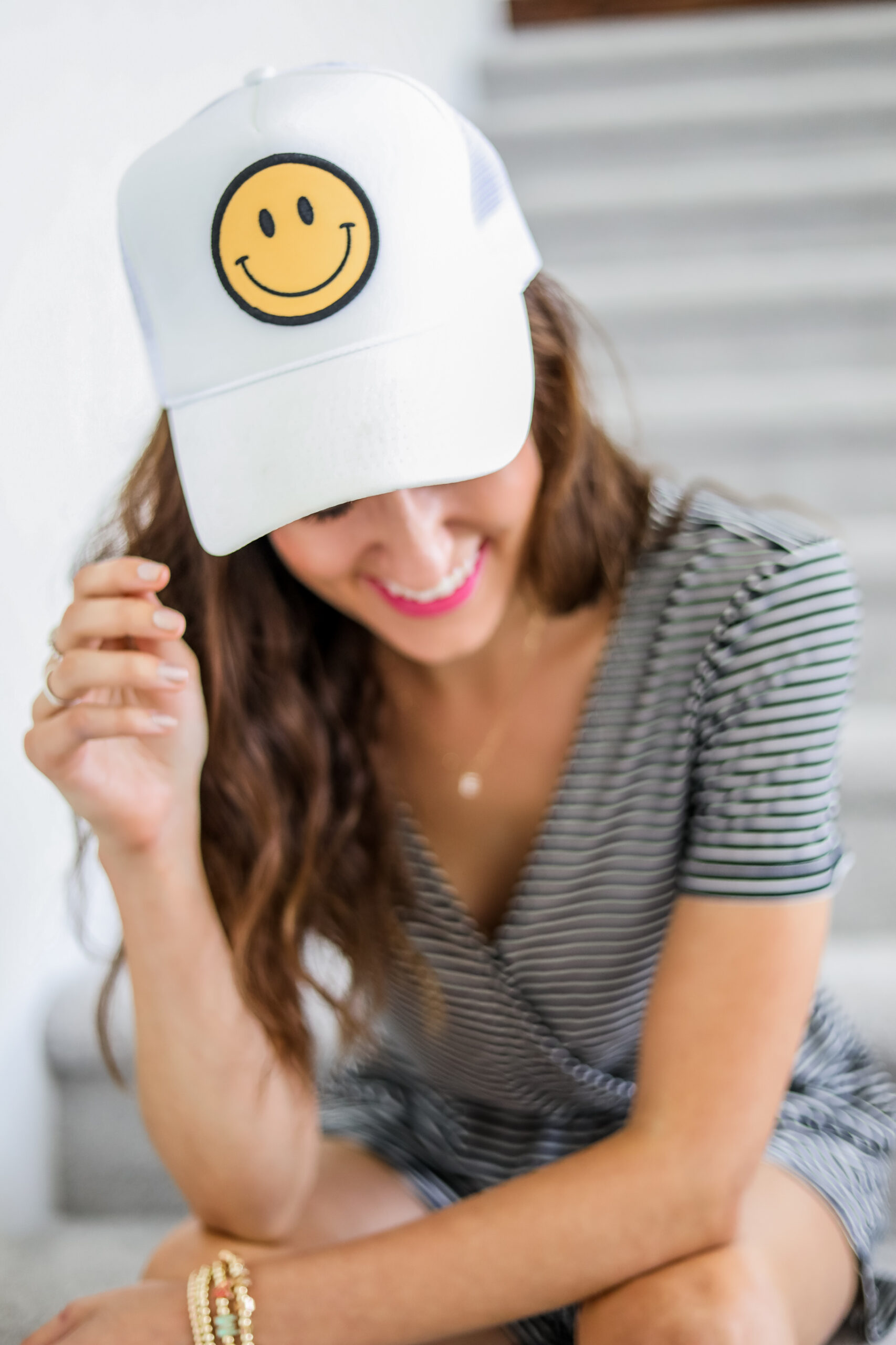 Etsy Smiley face trucker hat - from a small shop!