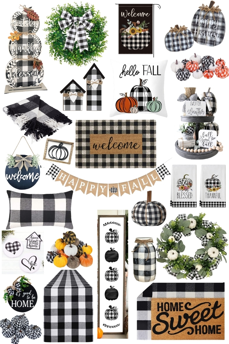 Affordable Buffalo Plaid Decor for Fall (+ our Fall Entryway!)